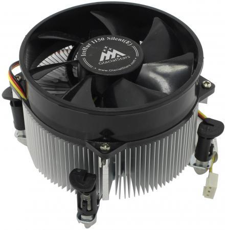 Кулер для процессора GlacialTech IceHut 1150 CU Silent Socket 1150/1155/1156 3pin 20dB Al+Cu 89W 440g клипсы OEM