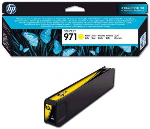 Картридж HP CN624AE №971 для HP Officejet Pro X476dw X576dw X451dw X551dw 2500стр. желтый hot sale for hp 970 971 refillable ink cartridge for officejet pro x451dn x451dw x476dn x476dw x551dw x576dw with permanent chip