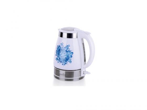 Чайник Smile WK 5127 2000 Вт 1.7 л керамика белый голубой чайник smile wk 5414