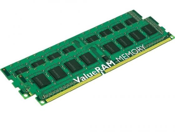 Оперативная память 16Gb (2x8Gb) PC3-12800 1600MHz DDR3 DIMM Kingston KVR16N11K2/16 Retail оперативная память kingston 16gb 2400mhz ddr4 dimm kvr24se17d8 16