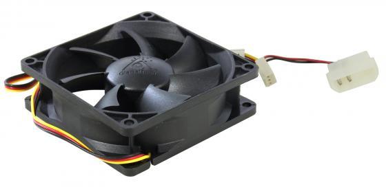 где купить Вентилятор Glacialtech GT-8025-BDLA1 Ballbearing 80x80x25 3pin+4pin molex 21dB 90g OEM дешево