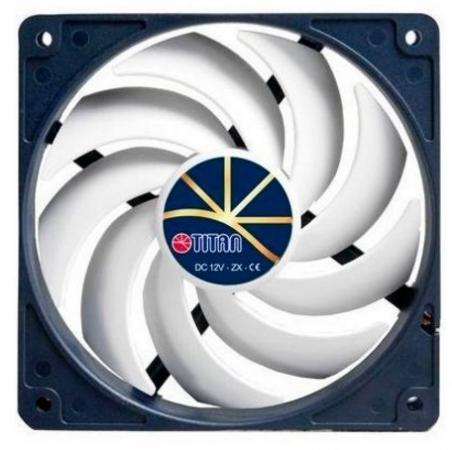 Вентилятор Titan TFD-12025H12ZP/KE(RB) 120x120x25mm 4pin 5-37dB 206g extreme-silent Retail вентилятор для корпуса titan tfd 14025h12zp ke rb 140x140x25 4pin 5 29db 250g винты extreme silent rtl