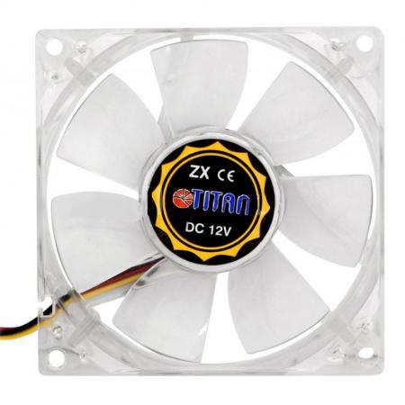 Вентилятор Titan TFD-C802512Z/TC(RB) 80x80x25 3pin 21-34dB 1500-3300rpm 100g термодатчик