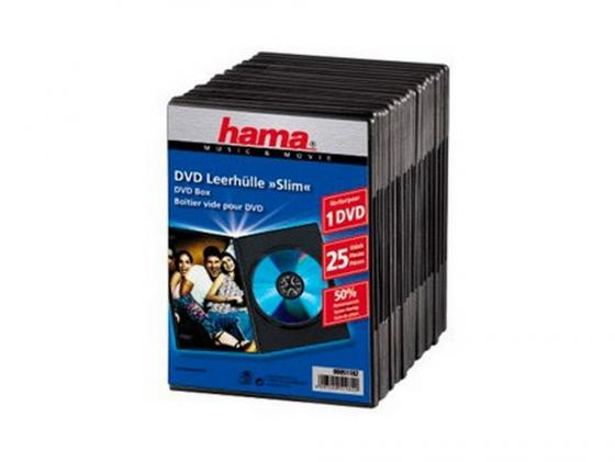 все цены на Коробка Hama для DVD Slim 25 шт. пластик черный H-51182