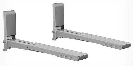 Кронштейн для СВЧ-печей Holder MWS-2003 металлик max 40 кг настенный от стены 300-420 мм цена