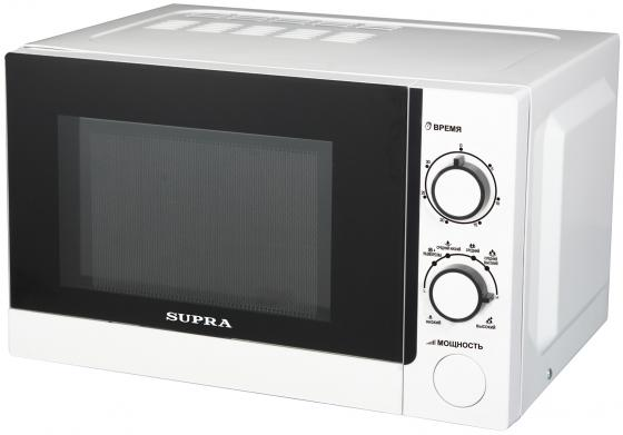 Микроволновая печь Supra MWS-1803MW 18 л белый supra mw g2101mw свч печь