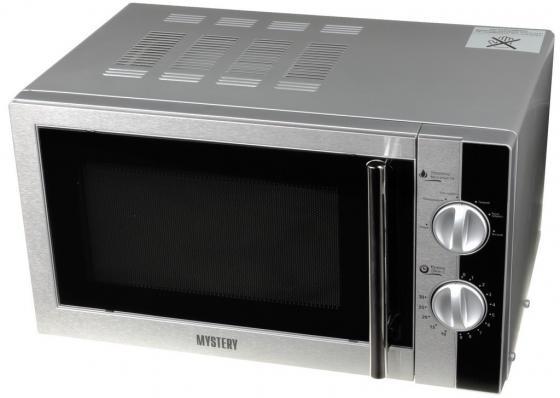 Микроволновая печь MYSTERY MMW-1715 700 Вт серебристый печь свч mystery mmw 1715 соло 17л мех серебр