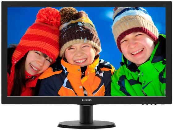 Монитор 27 Philips 273V5LHAB/0001 черный TN 1920x1080 300 cd/m^2 5 ms DVI HDMI VGA Аудио монитор 22 asus vp228de черный tn 1920x1080 200 cd m^2 5 ms vga аудио