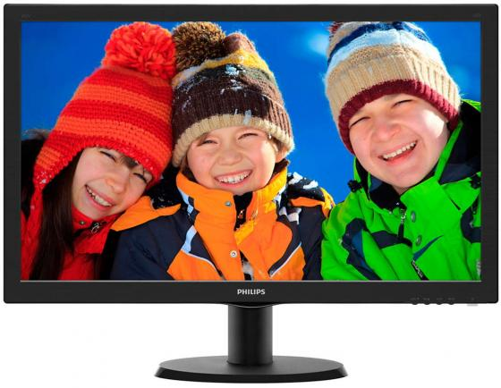 Монитор 23.6 Philips 243V5LSB/00/01 черный TFT-TN 1920x1080 250 cd/m^2 5 ms VGA DVI монитор 21 5 asus ve228tlb черный tft tn 1920x1080 250 cd m^2 5 ms dvi vga аудио usb