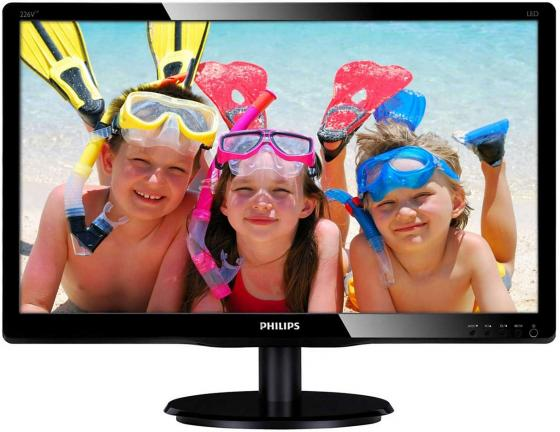 Монитор 22 Philips 226V4LAB/00/01 черный TN 1920x1080 250 cd/m^2 5 ms VGA DVI монитор жк philips 220v4lsb 00 01 22 черный
