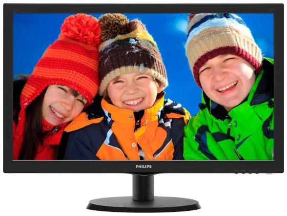 Монитор 22 Philips 223V5LSB2/62/10 черный TFT-TN 1920x1080 200 cd/m^2 5 ms VGA монитор philips 223v5lsb2
