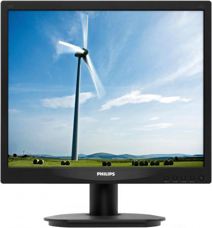 92011057 s 17 5 Монитор 17 Philips 17S4LSB/62 черный TN 1280x1024 250 cd/m^2 5 ms VGA