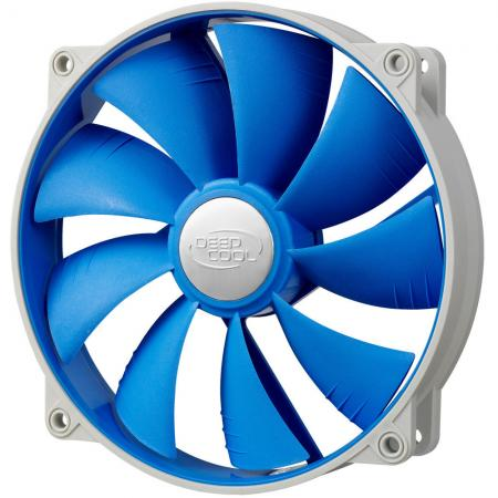 Вентилятор Deepcool UF 140 140x140x25 4pin 18-27dB 700-1200rpm 167g anti-vibration UF-FAN140 вентилятор deepcool gf140 140x140x26 4pin 26 7db 1200rpm 179g черный