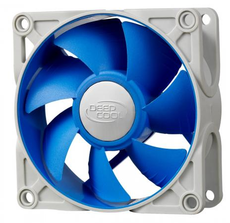 Вентилятор Deepcool UF 80 80x80x25 4pin 18-23dB 900-2200rpm 111g anti-vibration вентилятор deepcool gf140 140x140x26 4pin 26 7db 1200rpm 179g черный