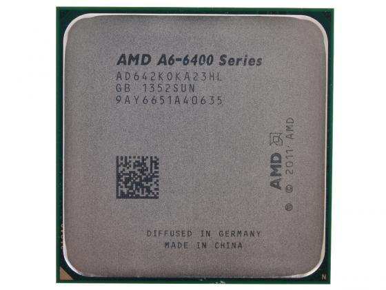 Процессор AMD A6 X2 6420K AD642KOKA23HL SocketFM2 OEM процессор amd athlon ii x2 340 fm2 ad340xoka23hj 3 2 1mb oem