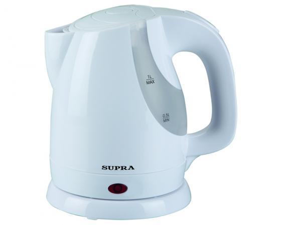 Чайник Supra KES-1021 1200 Вт белый 1 л пластик чайник электрический supra kes 1705 beige