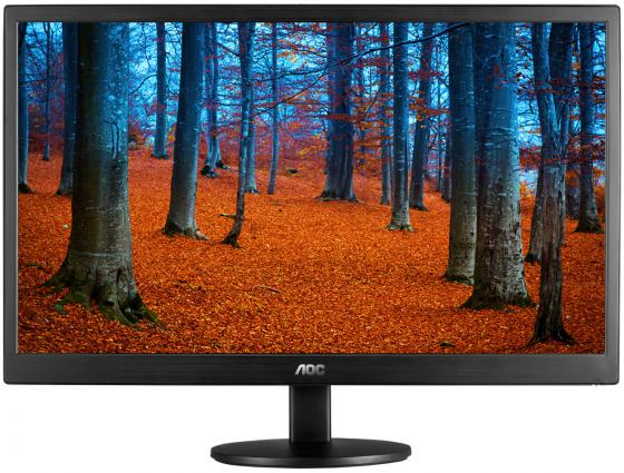 "Монитор 19"" AOC E970SWN черный TN 1366x768 200 cd/m^2 5 ms VGA"