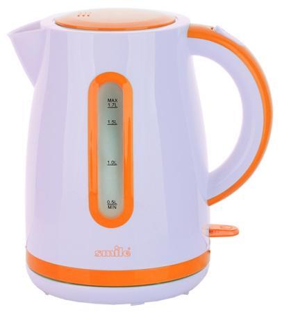 Чайник Smile WK 5124 2000 Вт 1.7 л пластик белый оранжевый чайник smile wk 5308 2000 вт 1 7 л пластик белый