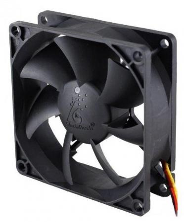Вентилятор Glacialtech GT-8025-EDLB1 Sleeve 80x80x25 3pin+4pin molex 19dB 90g OEM CF8025SEDOAB1031