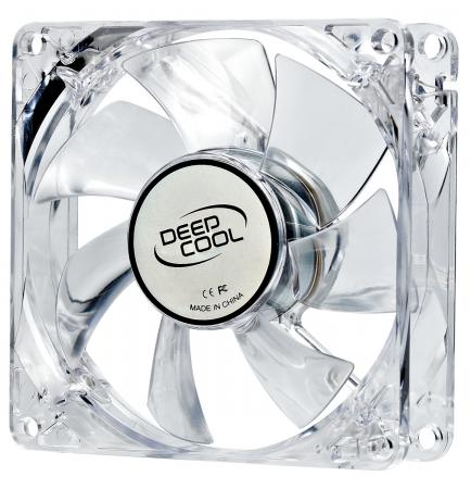 Вентилятор Deepcool XFAN 80L/R 80x80x25 3pin 20dB 1800rpm 60g красный LED