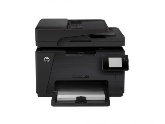 МФУ HP Color LaserJet Pro M177fw CZ165A A4 16/4ppm 600x600dpi 128Мб WiFi Ethernet USB мфу hp color laserjet m377dw a4 600x600dpi 24ppm ethernet usb