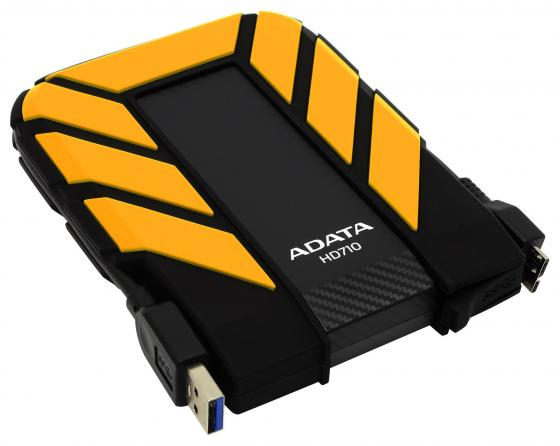 Внешний жесткий диск 2.5 USB3.0 1Tb A-Data AHD710P-1TU31-CYL желтый внешний жесткий диск adata ahd710p 1tu31 cyl