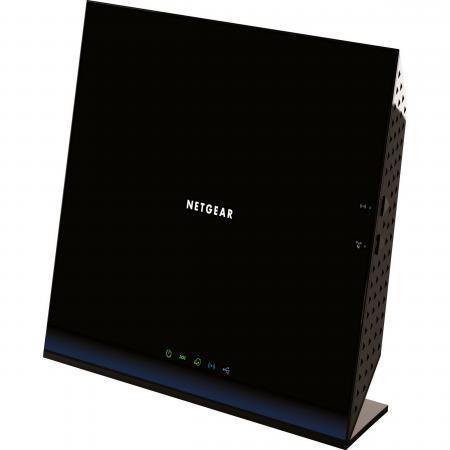 Точка доступа NETGEAR D6200-100PES ADSL2 802.11ac 867Mbps 2.4 / 5ГГц 4xGLAN USB точка доступа netgear wnap320 100pes 802 11n 300mbps 2 4ггц 20dbm gblan