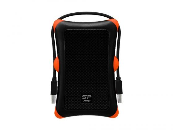 """где купить Внешний жесткий диск 2.5"""" USB2.0 500 Gb Silicon Power Armor A30 SP500GBPHDA30S3K черный дешево"""