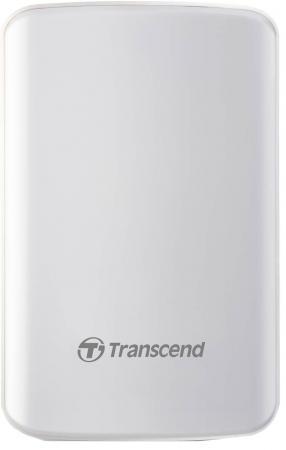 Внешний жесткий диск 2.5 USB3.0 1Tb Transcend StoreJet 25D3 TS1TSJ25D3W белый transcend storejet 25m3 1tb