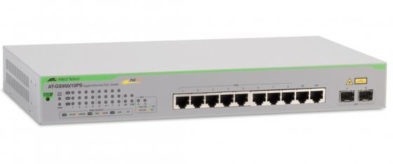 Фото - Коммутатор Allied Telesis AT-GS950/10PS-50 8 портов 10/100/1000Mbps PoE+/SFP коммутатор allied telesis at fs708 poe 50 неуправляемый 8 портов 10 100mbps 1xsfpuplink poe
