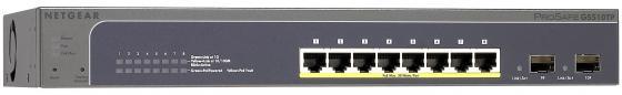 Коммутатор Netgear GS510TP-100EUS управляемый 8 портов 10/100/1000Mbps 2xSFP