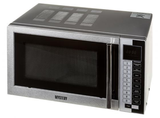 Микроволновая печь MYSTERY MMW-1718 800 Вт серебристый микроволновая печь mystery mmw 2031 800 вт белый