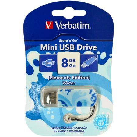 Флешка USB 8Gb Verbatim Store 'n' Go Mini ELEMENTS EDITION 98159 USB2.0 Water цена