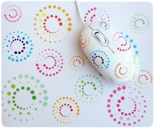 Мышь проводная CBR Rainbow + коврик белый USB SET703 мышь cbr aero battle коврик usb