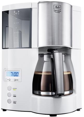 Кофеварка Melitta Optima Glass Timer 850 Вт белый 20323 кофеварка капельная melitta optima timer 850вт черный