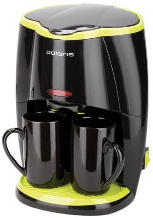Кофеварка Polaris PCM 0210 450 Вт черный кофеварка polaris pcm 1211 черный салатовый