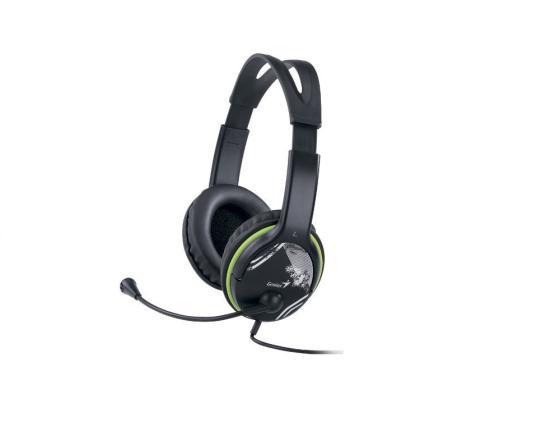 Гарнитура Genius HS-400А черно-зеленый гарнитура genius hs g680 черный