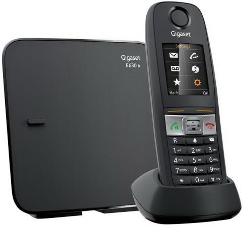 Радиотелефон DECT Gigaset E630A черный радиотелефон dect gigaset c530a duo черный