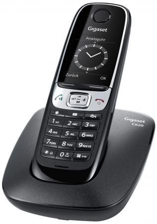 купить Радиотелефон DECT Gigaset C620 черный по цене 3680 рублей
