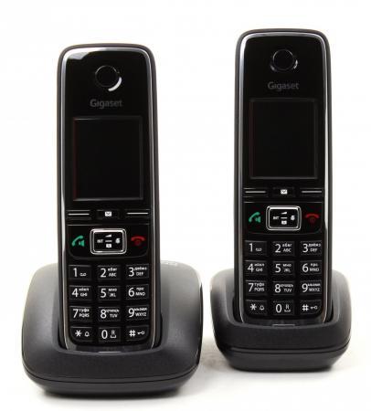Радиотелефон DECT Gigaset C530 DUO черный телефон gigaset c530