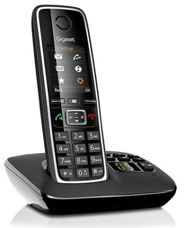 Радиотелефон DECT Gigaset C530 A черный телефон gigaset c530