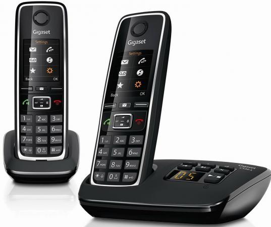 Радиотелефон DECT Gigaset C530A DUO черный gigaset l410 черный