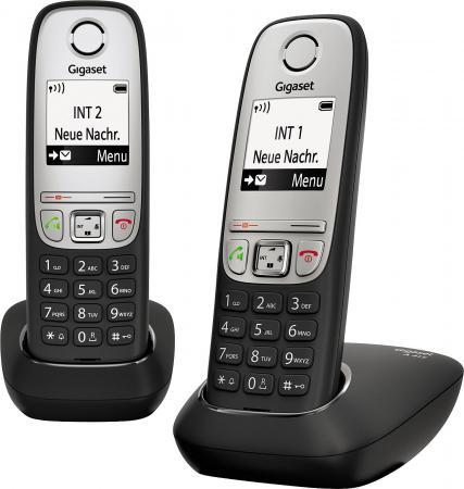 Радиотелефон DECT Gigaset A415 DUO черный радиотелефон dect gigaset e630h черный