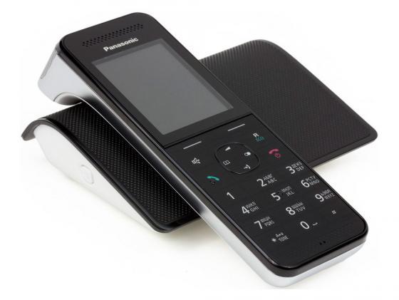 Радиотелефон DECT Panasonic KX-PRW120RUW черный-белый радиотелефон panasonic kx prw120ruw