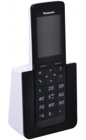 Фото Радиотелефон DECT Panasonic KX-PRS110RUW черный-белый радиотелефон dect panasonic kx tg8051ruw белый
