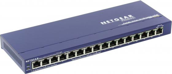 Коммутатор NETGEAR FS116PEU неуправляемый 16 портов 10/100Mbps PoE коммутатор zyxel gs1100 16 gs1100 16 eu0101f