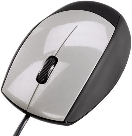 Мышь проводная HAMA M360 -52388 серебристый чёрный USB