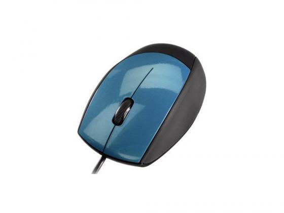 Мышь Hama H-52384 M360 черно-голубой USB