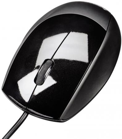 Мышь проводная HAMA M360 чёрный USB H-52378 мышь hama hama cino optical mouse usb синяя
