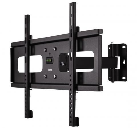Кронштейн HAMA H-108779 L черный для ЖК ТВ до 50 настенный наклон поворот VESA 600x400 max 45 кг
